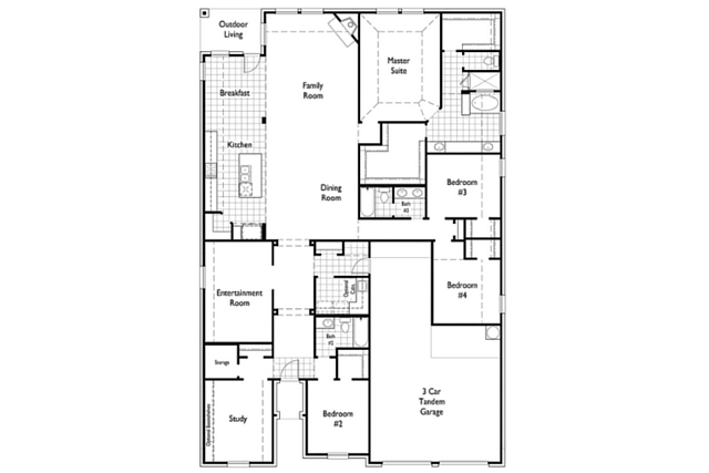 ... All Overlooking The Outdoor Living Room. This Four Bedroom Home Also  Includes An Entertainment Room And A Study. A Three Car Garage Is Standard,  ...