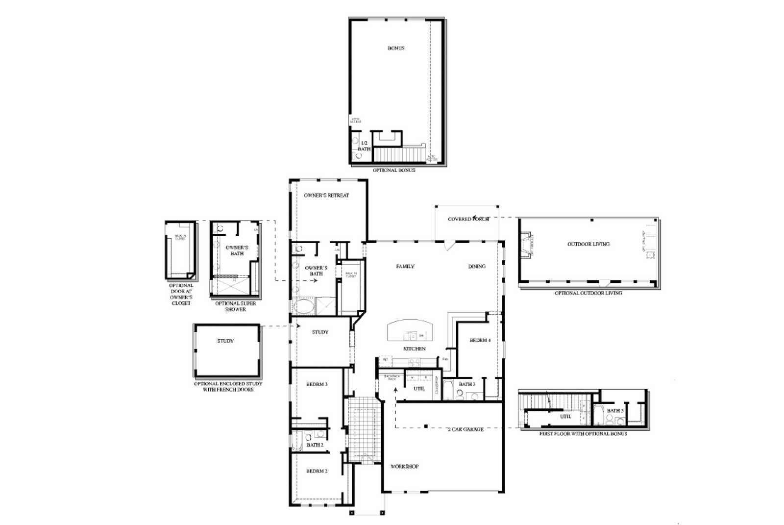 Weekley Floor Plan Single Story w options Stallion 6082.png