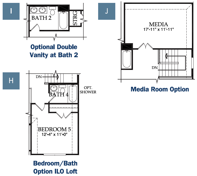 Pulte - Lockhart, Upper Level options.png