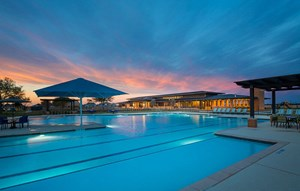 Elyson House Pool at sunset