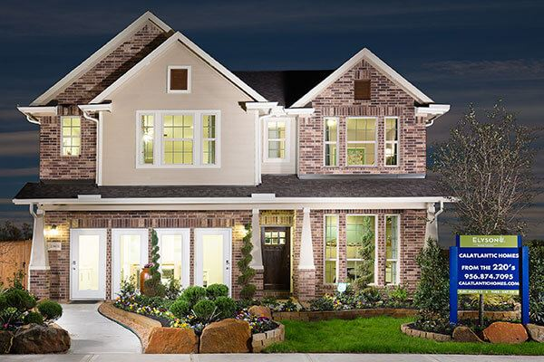 Lennar model home exterior in Elyson community Katy, TX