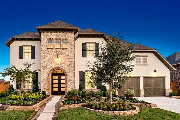 Darling Homes model home exterior in Elyson Katy, TX