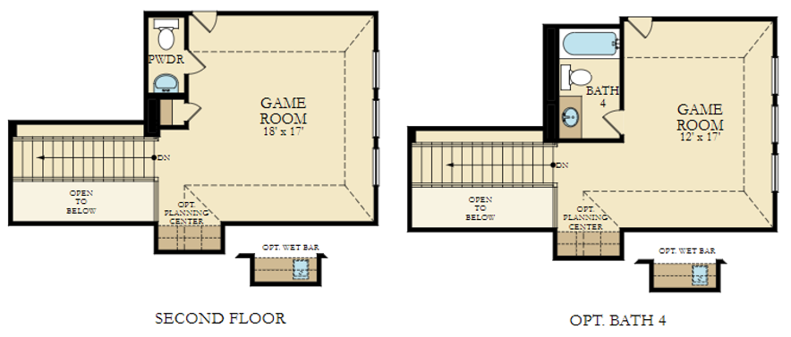 VB - Arles 5125, Upper Level FP with bath option.png