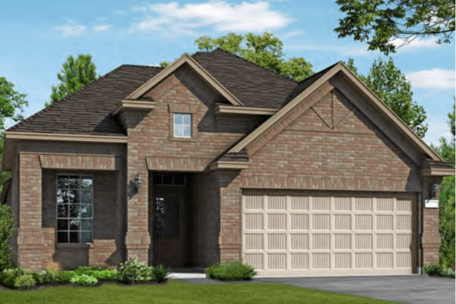 Chesmar Homes New Home Plan 3102 Calida Elevation C in Elyson Katy, TX