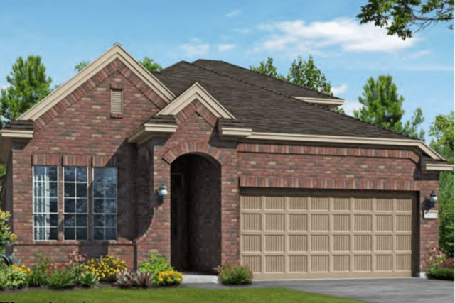 Chesmar Homes New Home Plan 3102 Calida Elevation A in Elyson Katy, TX