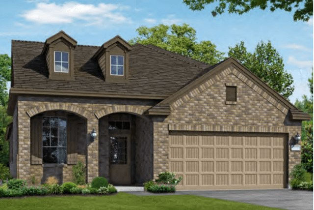 Chesmar Homes New Home Plan 3102 Calida Elevation B in Elyson Katy, TX