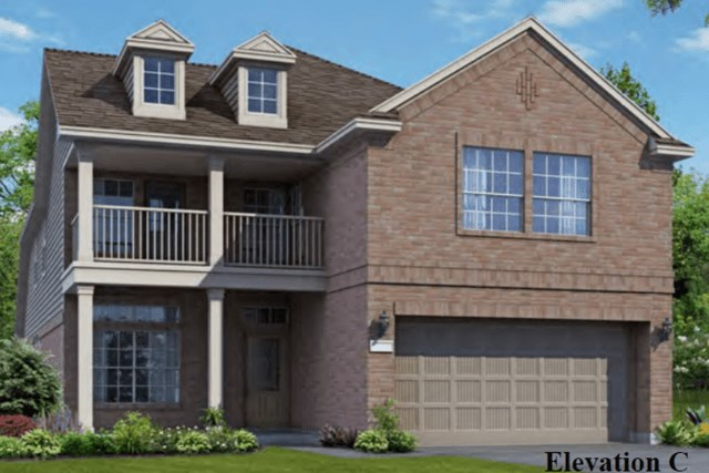 Chesmar Homes New Home Plan 3042 Elena Elevation C in Elyson Katy, TX