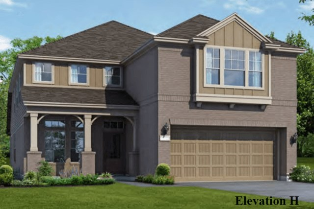 Chesmar Homes New Home Plan 3042 Elena Elevation H in Elyson Katy, TX
