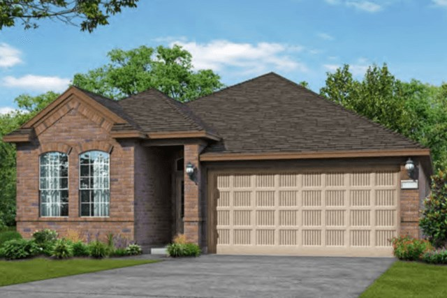 Chesmar Homes New Home Plan 3092 Lanai Elevation A in Elyson Katy, TX