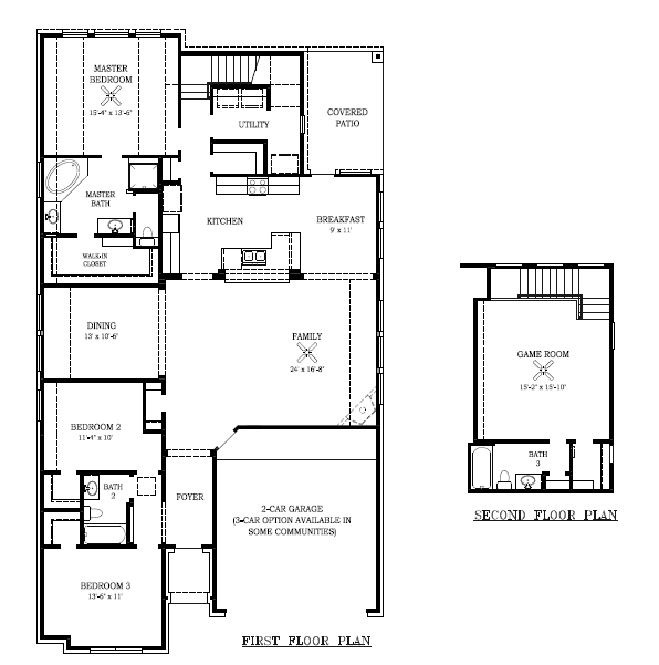Chesmar Homes New Home Floor Plan, 1261 Magnolia, in Elyson Katy, TX
