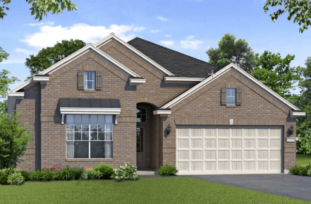 Chesmar Homes New Home Plan 1261 Magnolia Elevation A in Elyson Katy, TX