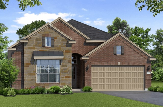 Chesmar Homes New Home Plan 1261 Magnolia Elevation AS in Elyson Katy, TX