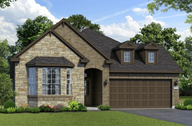 Chesmar Homes New Home Plan 1261 Magnolia Elevation BS in Elyson Katy, TX