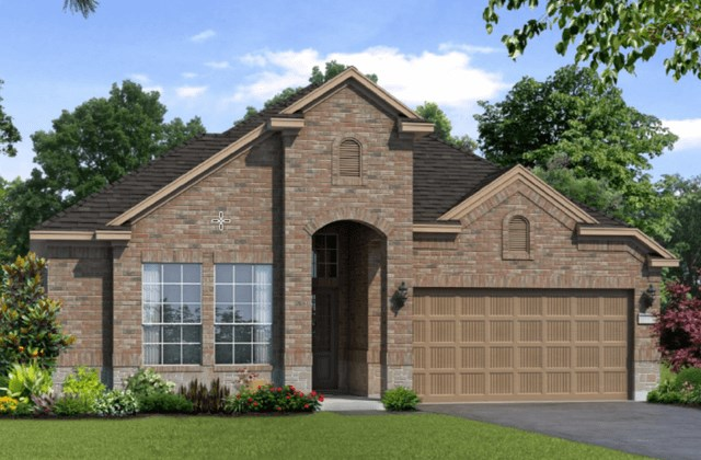 Chesmar Homes New Home Plan 1261 Magnolia Elevation CS in Elyson Katy, TX