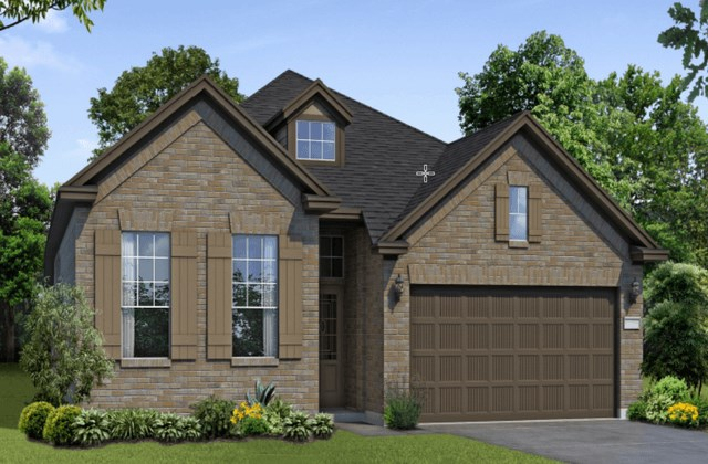 Chesmar Homes New Home Plan 1201 Pinyon Elevation A in Elyson Katy, TX