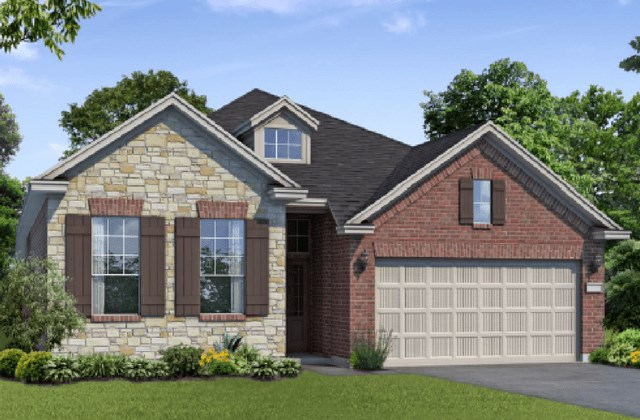 Chesmar Homes New Home Plan 1201 Pinyon Elevation AS in Elyson Katy, TX