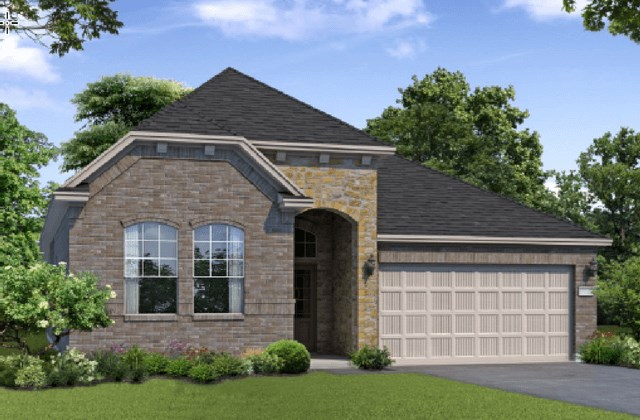 Chesmar Homes New Home Plan 1201 Pinyon Elevation BS in Elyson Katy, TX