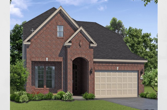 Chesmar Homes New Home Plan 1281 Poplar Elevation B in Elyson Katy, TX