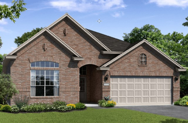 Chesmar Homes New Home Plan 1211 Rosewood Elevation A in Elyson Katy, TX