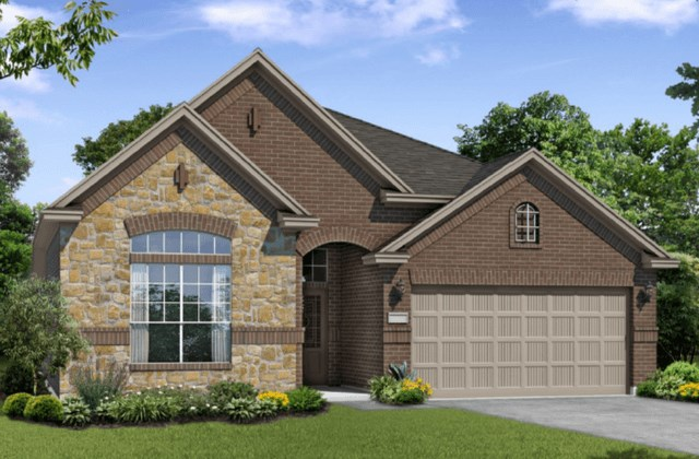 Chesmar Homes New Home Plan 1211 Rosewood Elevation AS in Elyson Katy, TX