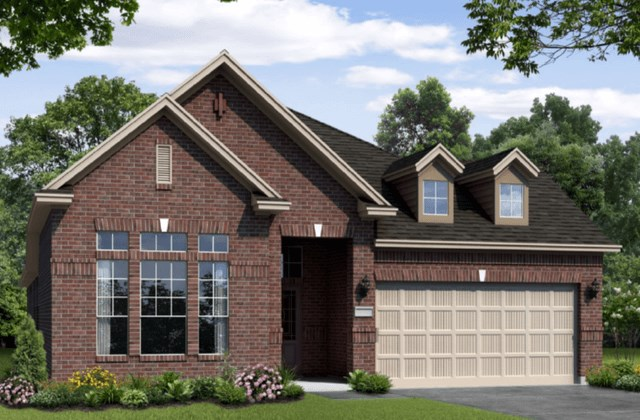 Chesmar Homes New Home Plan 1211 Rosewood Elevation B in Elyson Katy, TX