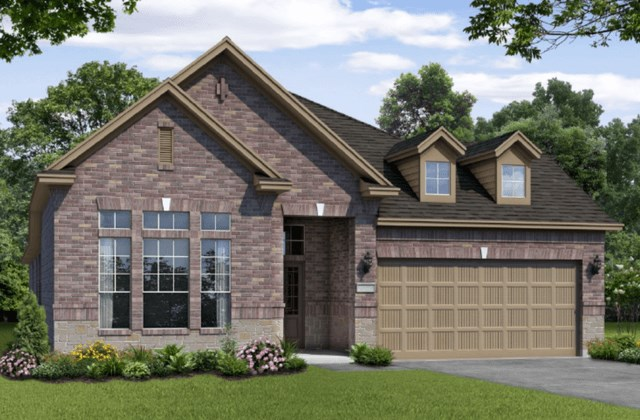 Chesmar Homes New Home Plan 1211 Rosewood Elevation BS in Elyson Katy, TX