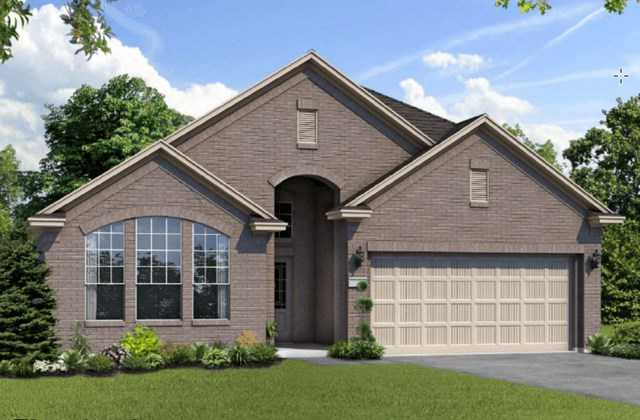 Chesmar Homes New Home Plan 1211 Rosewood Elevation C in Elyson Katy, TX