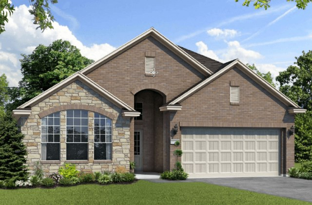 Chesmar Homes New Home Plan 1211 Rosewood Elevation CS in Elyson Katy, TX