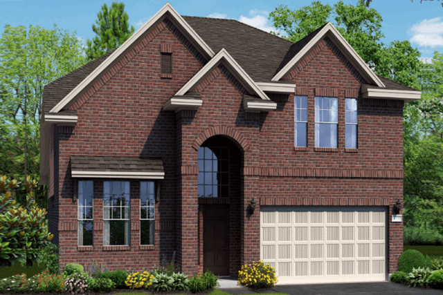 Chesmar Homes New Home Plan 1310 Willow Elevation A in Elyson Katy, TX