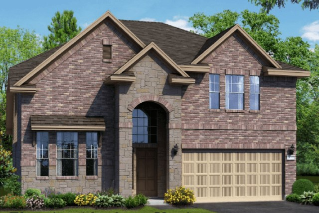 Chesmar Homes New Home Plan 1310 Willow Elevation AS in Elyson Katy, TX