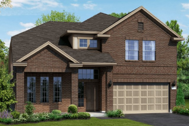 Chesmar Homes New Home Plan 1310 Willow Elevation B in Elyson Katy, TX