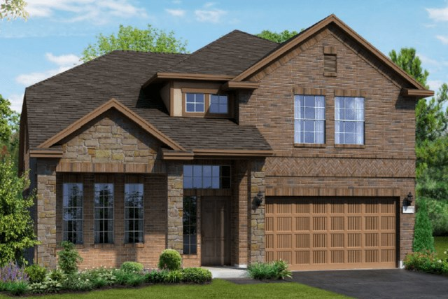 Chesmar Homes New Home Plan 1310 Willow Elevation BS in Elyson Katy, TX