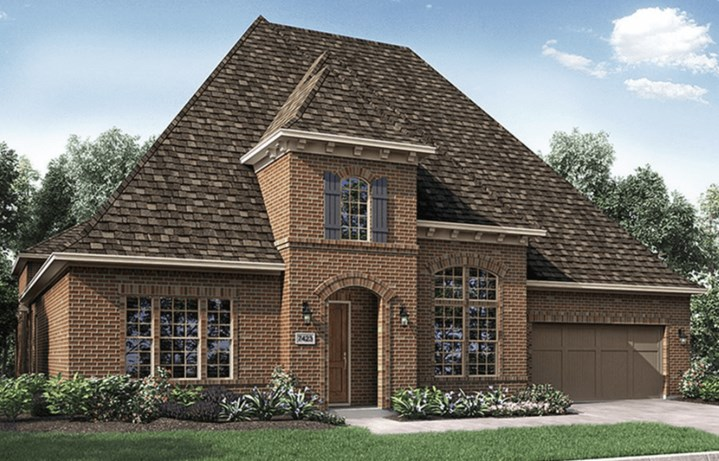 Darling Homes New Home Plan 7423 Elevation A in Elyson Katy, TX