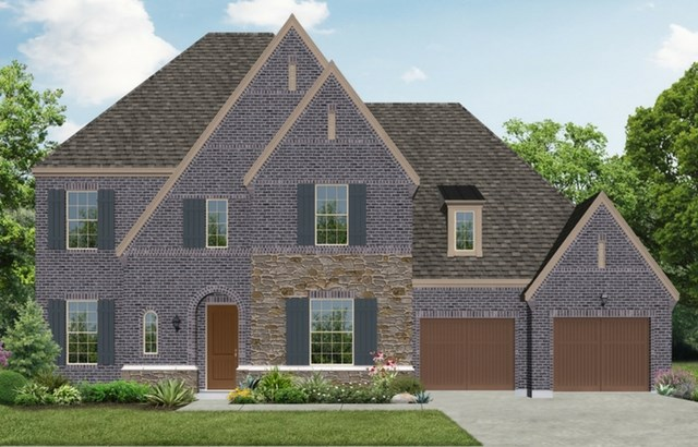 Darling Homes New Home Plan 7436 Elevation B in Elyson Katy, TX