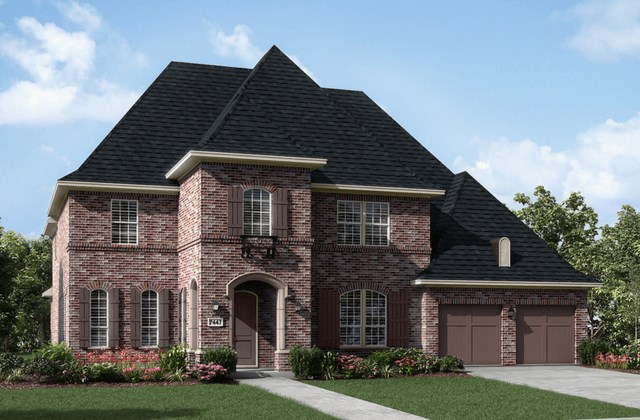 Darling Homes New Home Plan 7447 Elevation A in Elyson Katy, TX