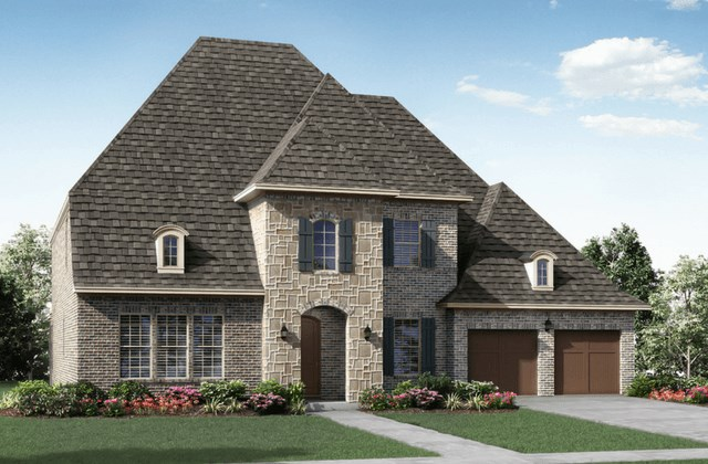 Darling Homes New Home Plan 7449 Elevation A in Elyson Katy, TX