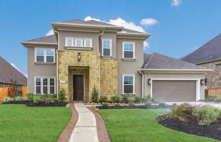Darling Homes in Elyson Katy, TX  - New Home at 6522 Woodleaf Lake Loop Exterior