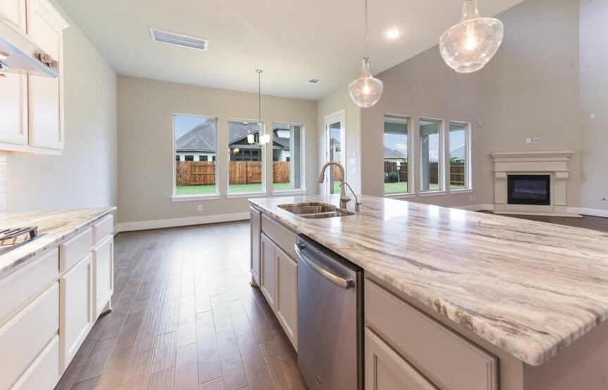 Darling Homes in Elyson Katy, TX  - New Home at 6522 Woodleaf Lake Loop Kitchen Island