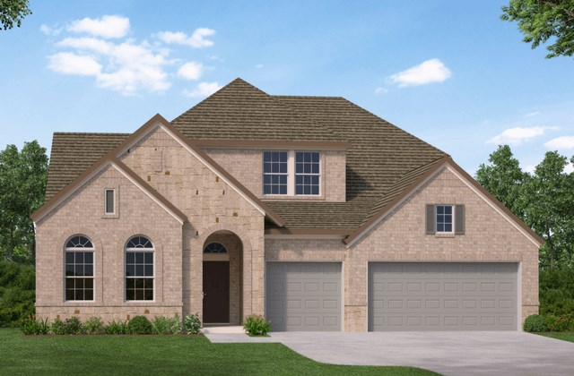 David Weekley Homes Clubside New Home Plan Elevation A in Elyson Katy, TX