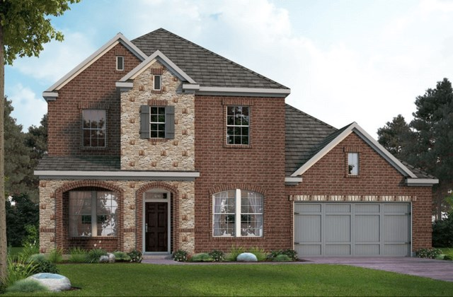 David Weekley Homes Hillmont New Home Plan Elevation D1 in Elyson Katy, TX