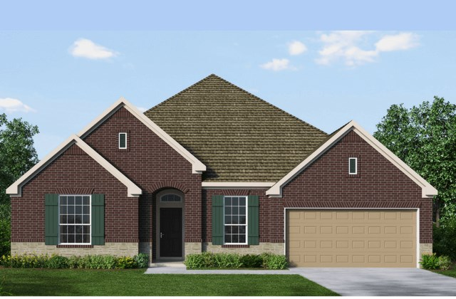 David Weekley Homes Mayflower New Home Plan Elevation A in Elyson Katy, TX