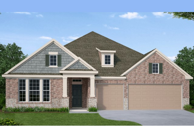 David Weekley Homes Stallion New Home Plan Elevation A in Elyson Katy, TX