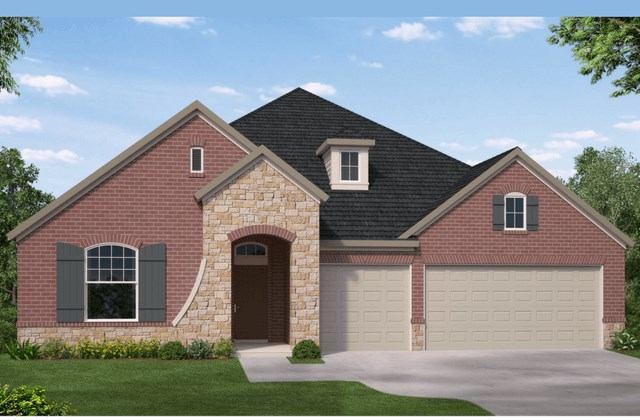 David Weekley Homes Stallion New Home Plan Elevation B in Elyson Katy, TX