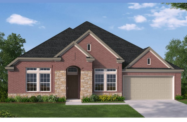 David Weekley Homes Ware New Home Plan Elevation A in Elyson Katy, TX