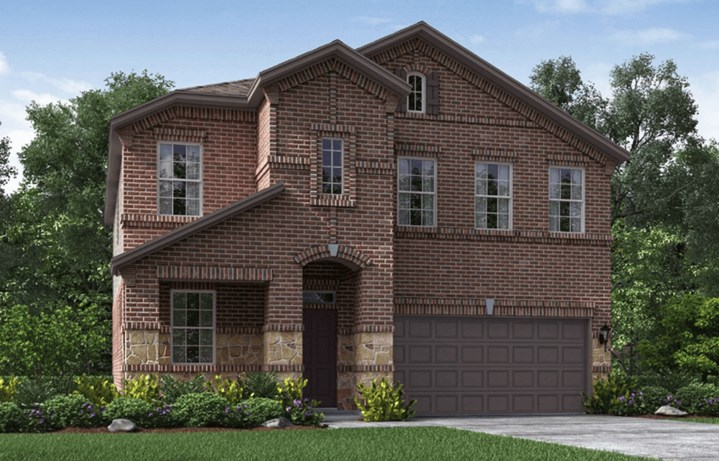 Meritage Homes Red River New Home Plan Elevation M in Elyson Katy, TX