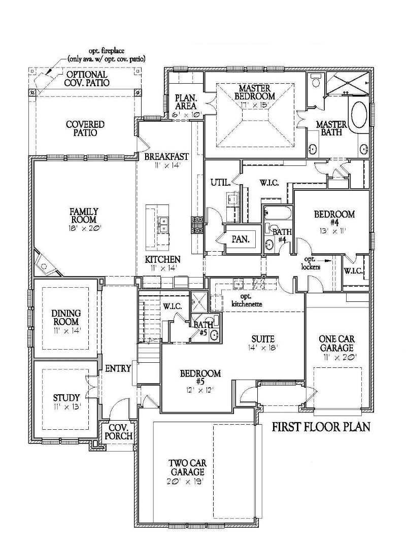 Darling Homes New Home Floor Plan 7490 First Floor in Elyson Katy, TX