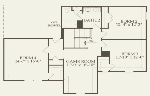 Pulte 60 - Weston, Upper Level FP.png