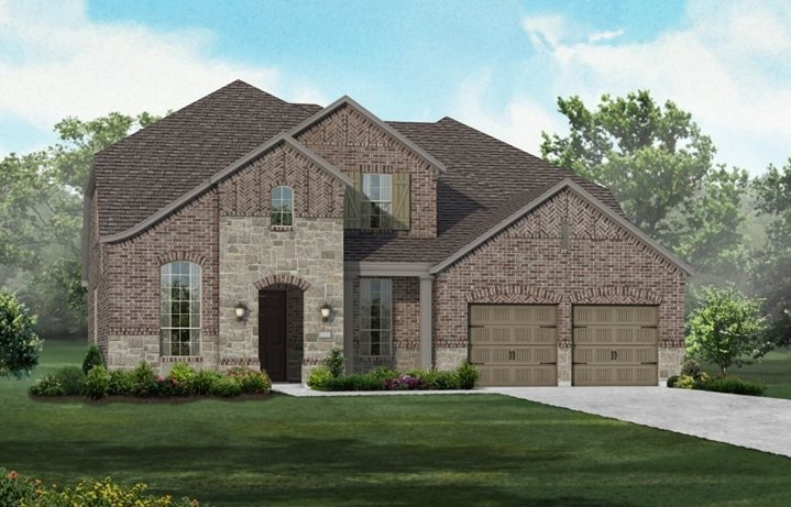 New Home Plan 210 by Highland Homes - Elevation A - Elyson Community, Katy Texas.