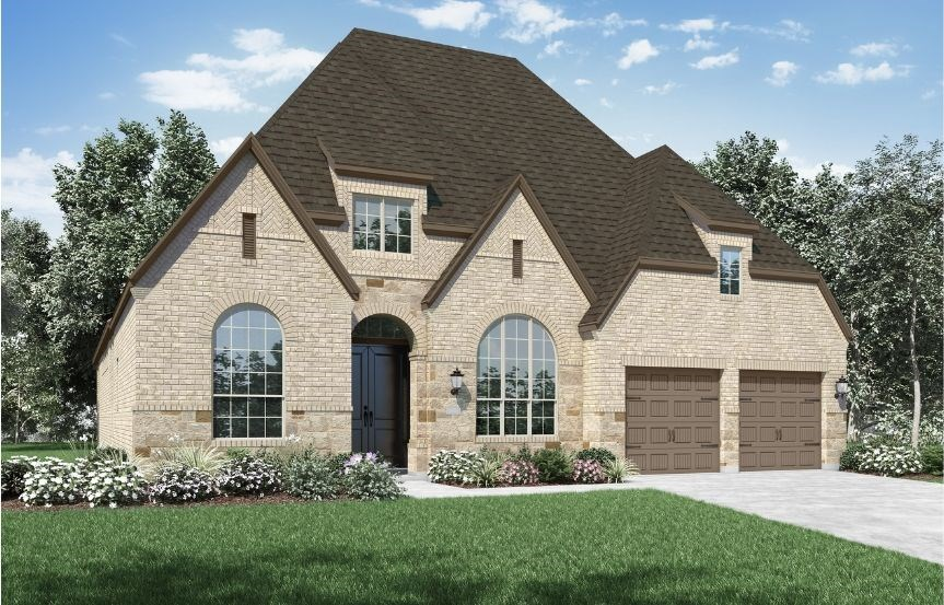 New Home Plan 215 by Highland Homes - Elevation D - Elyson Community, Katy Texas.