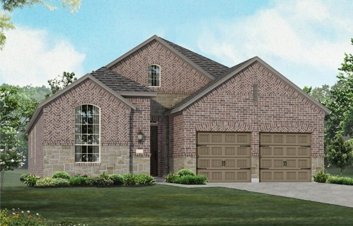 New Home Plan 550 by Highland Homes - Elevation A - Elyson Community, Katy Texas.